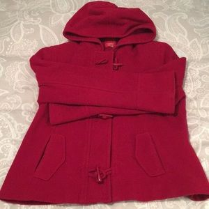 Esprit Red Wool Coat XL
